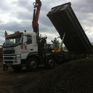 One of our trucks emptying